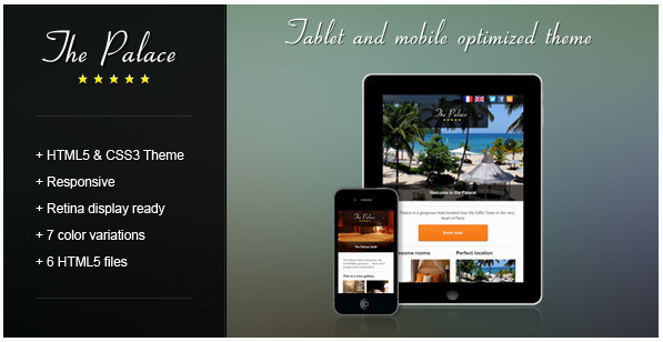 The Palace Mobile and Tablet HTML Theme