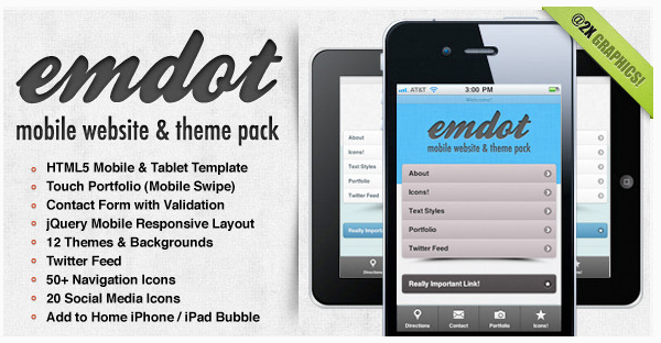 Emdot - Mobile Website & Theme Pack