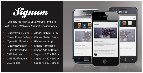 Signum Mobile | HTML5 & CSS3 And iWebApp