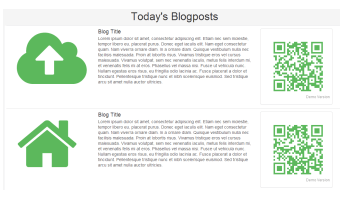 Bootstrap template, demonstrating a list of blogs.
