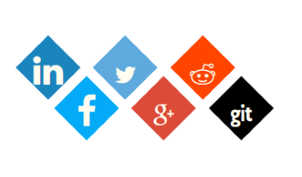 Bootstrap template, demonstrating social Icons