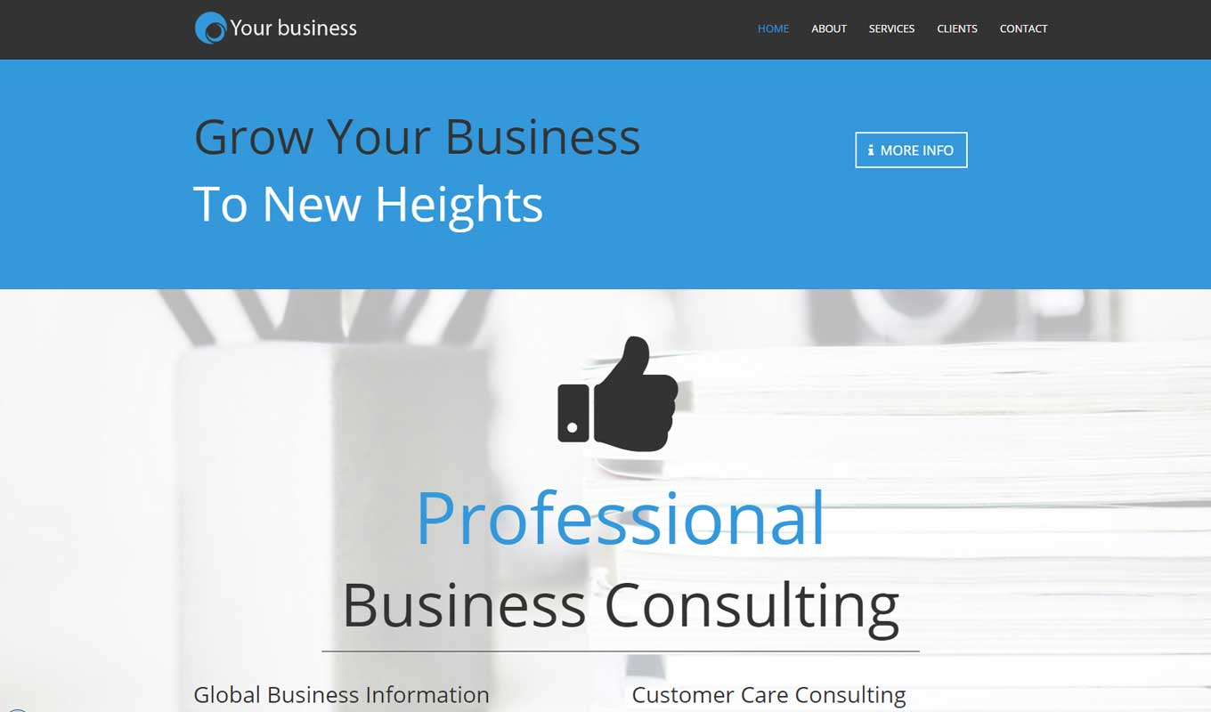 Business Services - Corporate multi-page theme