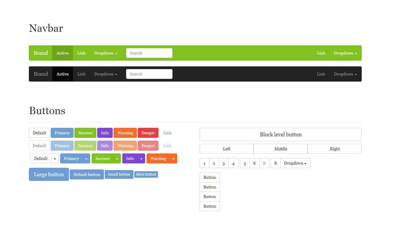 This is a custom Bootstrap theme with a palette of vivid candy colors.