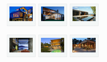 Bootstrap template, demonstrating a sample image gallery layout